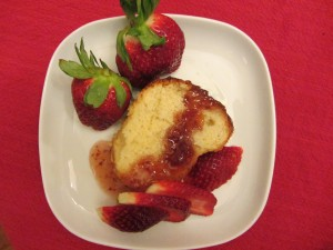 orange strawberry savarin